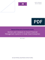 Tech Ressum Barriers and Catalysts to Sound Financial Management Systems