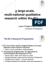 [PowerPoint version - slides] - Exploring large-scale, multi-national qualitative research within the EU