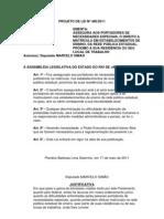 Projeto de Lei Nº 480/2011 - Assegura aos portadores de necessidades especiais o direito a matrícula nas escolas da rede pública, próximo a sua residência