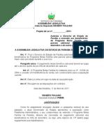 Projeto de Lei N°116.2011 - Autoriza o Governo do Estado da Paraíba a conceder aos beneficiários do Programa Bolsa Família uma parcela adicional no mês de dezembro e dá outras providências.