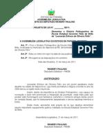 """Projeto de Lei N° 62.2011- Denomina o Ginásio Poliesportivo da Escola Estadual Severino Félix de Brito de """"Leonardo Erikson de Oliveira Félix""""."""