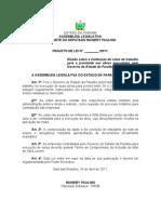 Projeto de Lei N° 138.2011 - Dispõe sobre a instituição de cotas de trabalho para a juventude nas obras executadas pelo Governo do Estado da Paraíba.