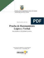 InstructivoPruebaRazonamientoLogicoVerbal