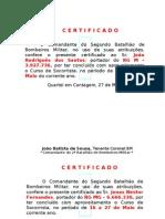 Certificado de 16 a 27 de Maio Masculino