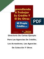 Cartas para disputar su informe de Crédito