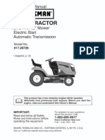 Lawn Tractor 917.28726 Operators Manual