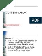 Cost Estimation April 2011