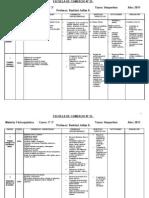 Planificacion fisico quimica 3 año