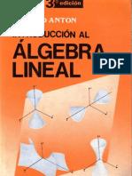 Algebra Lineal Anton