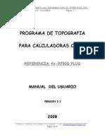 Programa de Topografia Para Casio Fx-9750G PLUS