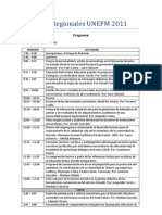 Programa Encuentro Regional UNEFM 2011