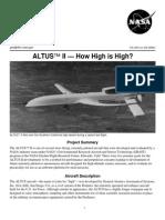 Nasa Facts Altus II How High is High 2003