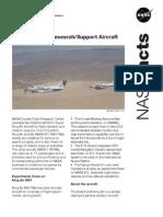 NASA Facts B-200 King Air Research Support Aircraft
