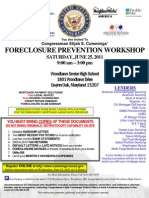 Congressman Elijah Cummings- Foreclosure Prevention Workshop