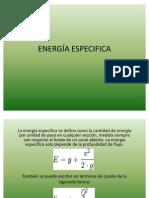 ENERGIA ESPECIFICA