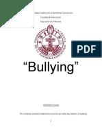 Bullying, Formacion Personal y Social Del Parvulo