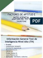 Factores de Aptitud e Inteligencia