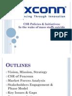 Foxconn CSR Policies & Initiatives