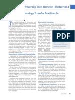 CASOS EXITOSOS  DE TRANSFERENCIA DE TECNOLOGÍA- University Technology Transfer Practices in Switzerland