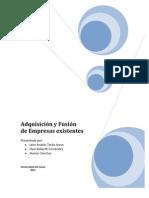 Adquisiciones y Fusiones de Negocios Existentes