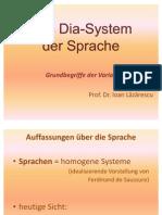 Das Dia-System Der Sprache