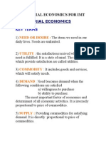 Managerial Economics for Imt