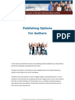 eBook Writing - Author Publishing Options for eBook Writing