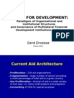 Funds For Development: Paradigms of Organisational and Institutional Structures and Governance of Multilateral Financial Development Institutions (MFDIs)