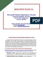 informationmanual MMD Chennai
