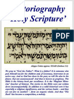 Historiography Holy Scripture – Hubert_Luns