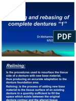 Relining and Rebasing of Complete Dentures
