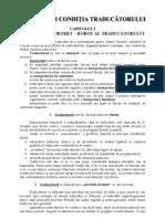 Statutul Si Conditia Traducatorului