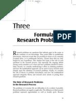 Formulating Research Problem