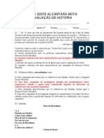 AVALIAÇÃO DE HISTÓRIA - 3º ANO / 2º BIMESTRE