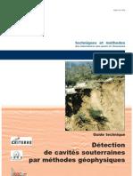 Détection cavités souterraines par géophysique
