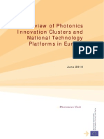 EU Report on Photonics Innovation Clusters