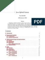 Java Splash Screen