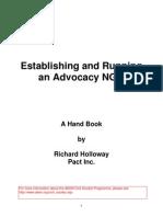 Establishing and Running an Advocacy NGO