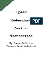 SS Seminar Transcripts