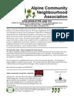 ACNA June 2011 Newsletter