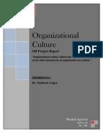 Organizational Culture Mradul Agrawal SB1