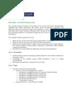 IPSAS Update - New IPSAS & Exposure Draft