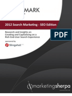 2012 Search Marketing Benchmark Report - SEO Edition - EXCERPT