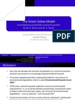 The Green Solow Model - A Lecture Course Presentation