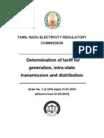 Tariff Order 3 of 2010
