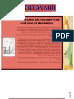 Aniversario Del Nacimiento de J. C. Mariategui