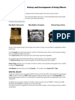 History & Development of Delay FX