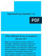 Approaching Question 1a G325 media studies