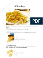 Jenis - Jenis Pasta Italia