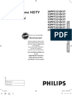Philips 32PF7321D LCD TV User Manual